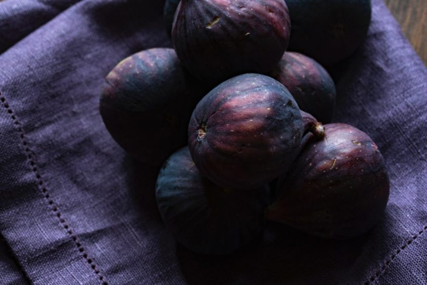 Purple figs on purple cloth